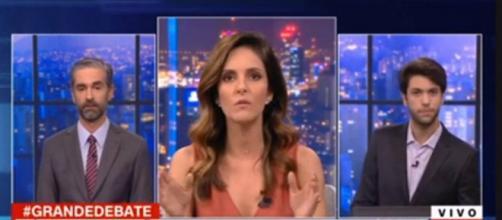 Monalisa Perrone dá lição em Caio Coppolla. (Reprodução/CNN Brasil)