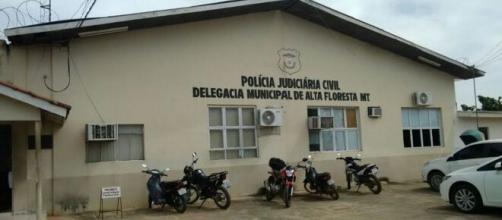 Acusado foi levado para Alta Floresta. (Reprodução/Polícia Civil)