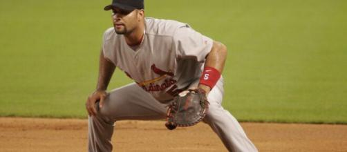 Albert Pujols was a three-time NL MVP with the Cardinals. [Image Source: Flickr | dominick27]