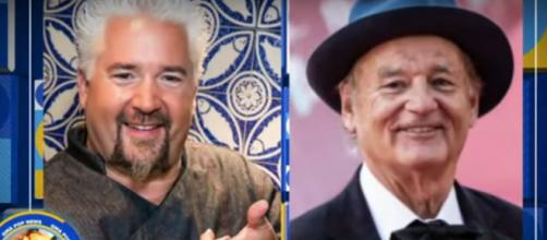 Celebrity chef Guy Fieri and comedian Bill Murray will go chip to chip in a nacho cookoff for restaurant worker relief.[Image source:GMA-YouTube]