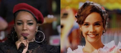 Iza no Música Boa e Débora Falabella no filme Lisbela e o Prisioneiro: mudanças na grade da Globo no sábado. ( Reprodução/TV Globo/Globo Filmes )