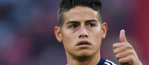 James Rodriguez, centrocampista offensivo del Real Madrid.