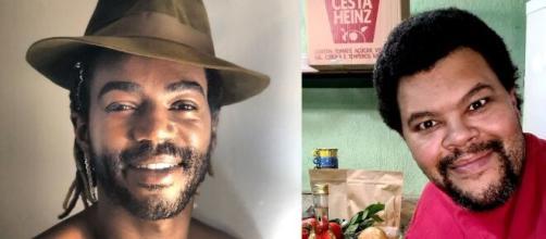 Jonathan Azevedo chora ao falar de Babu Santana. (Reprodução/Instagram/@negblack/@babusantana)
