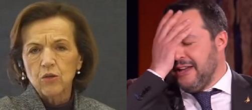 L'ex Ministra del Lavoro Elsa Fornero e Matteo Salvini.