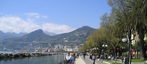 Il lungomare di Salerno, luogo di passeggio
