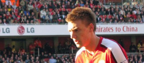 Nicklas Bendtner, ex punta della Juventus.