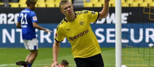 Erling Haaland anotou o primeiro gol na volta do Alemão. (Arquivo Blasting News)