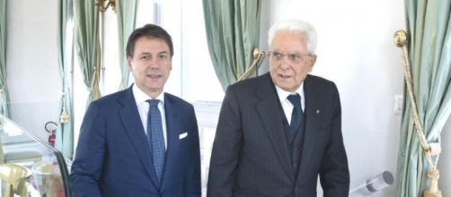 Giuseppe Conte e Sergio Mattarella.