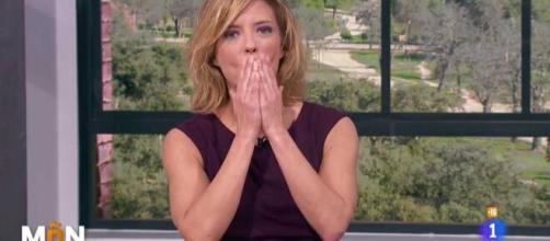 María Casado se emociona en directo al despedirse de 'La Mañana' de TVE.