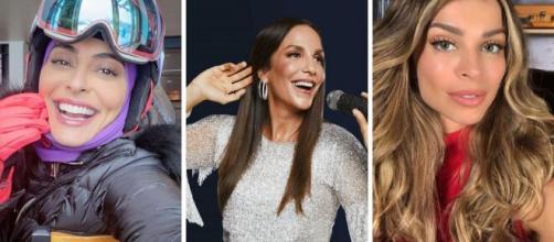 Celebridades que chamam atenção por suas belezas, talentos e simpatias (fotomontagem)