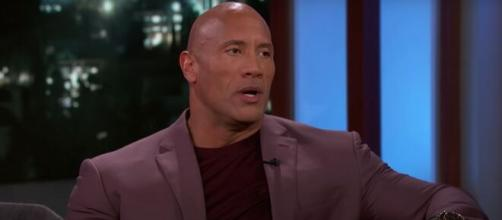 Dwayne Johnson talks about attending 'Jumanji: The Next Level' premieres all over the world. [Image Source: JimmyKimmelLive/YouTube]