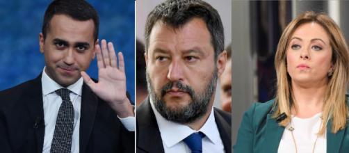Luigi Di Maio, Matteo Salvini e Giorgia Meloni