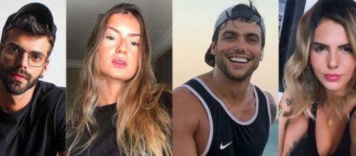 Matheus Magalhães, Larissa Cozer, Jarlles Gois e Rebecca Diniz entrarão no De Férias com o Ex. ( Reprodução/Instagram )