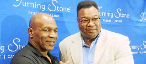Larry Holmes insieme a Mike Tyson.