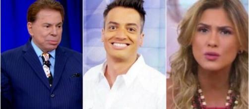 Polêmica entre Silvio Santos, Leo Dias e Lívia Andrade. (Arquivo Blasting News)
