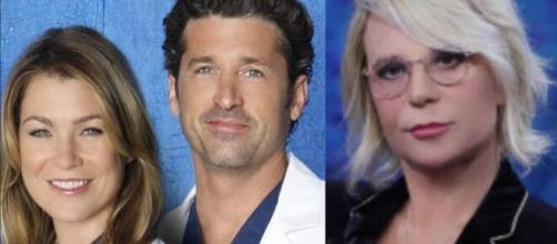 Maria de Filippi promuove L'amica geniale e su Grey's Anatomy: 'Non lo vedo più'.