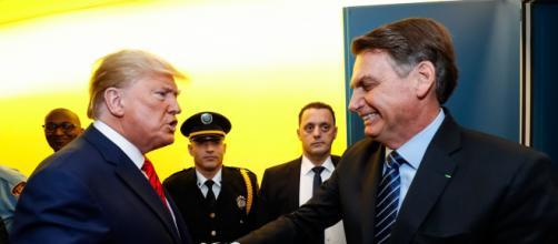 Trump elogia Bolsonaro. (Arquivo Blasting News)