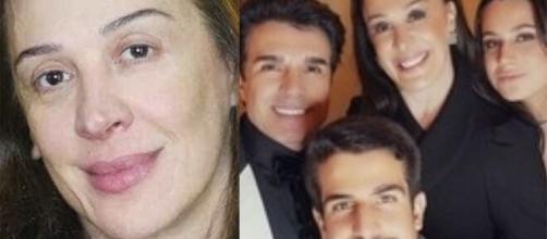Cláudia Raia, o marido Jarbas Homem de Melo e os filhos Enzo e Sofia estão curados. (Fotomontagem)