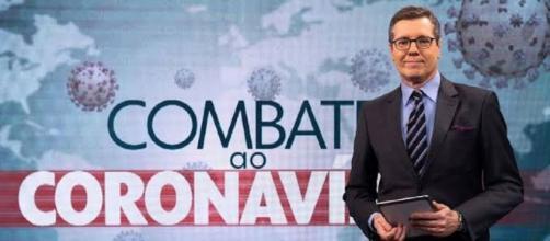 """Márcio Gomes teve o seu trabalho na televisão muito elogiado após o fim do programa """"Combate ao Coronavírus"""". (Reprodução/TV Globo)"""