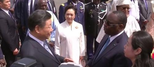 Xi Jinping, le président chinois avec son homologue sénégalais Macky Sall (source : Youtube Le Monde)