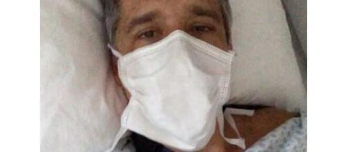 Ator fez uma postagem diretamente do hospital. (Reprodução/Redes sociais)