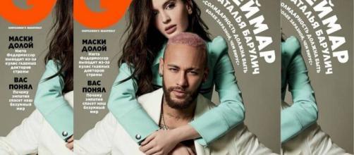 O craque Neymar estrela a capa de junho da revista 'GQ'. (Divulgação/GQ)