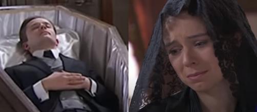 Una vita trame spagnole: Genoveva impedisce ai vicini di partecipare al funerale di Samuel.