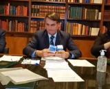 Bolsonaro defende cloroquina. (Reprodução/Redes Sociais)
