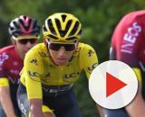 Egan Bernal in maglia gialla al Tour de France.