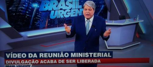 Datena confronta presidente da Caixa após declaração de que Band teria pedido dinheiro ao banco. (Reprodução/Band)