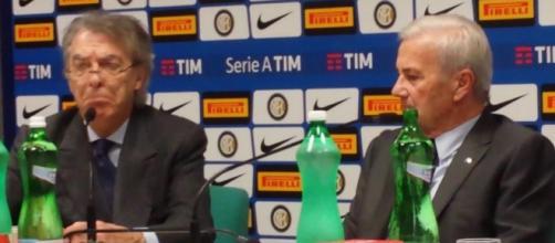 Massimo Moratti e Gigi Simoni ai tempi dell'Inter.