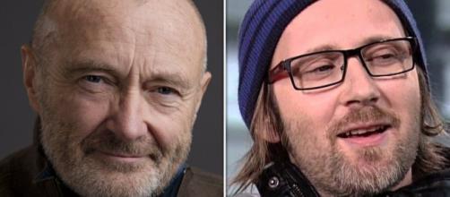 Simon Collins e Phil Collins tocaram juntos em 1987. (Fotomontagem)