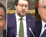 Pietro Senaldi, Matteo Salvini e Sergio Mattarella.