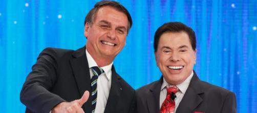 Silvio Santos e Jair Bolsonaro. (Reprodução/SBT)