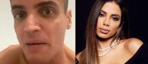 Anitta acusou Leo Dias neste domingo (24) de ameaças. (Fotomontagem)