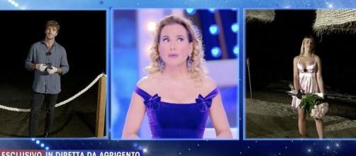 Barbara D'Urso smaschera Clizia Incorvaia e Paolo Ciavarro.
