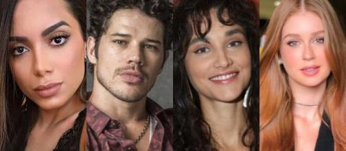 Cantora Anitta acusa José Loreto de trair Débora Nascimento com Marina Ruy Barbosa, de acordo com Léo Dias. (Arquivo Blasting News)