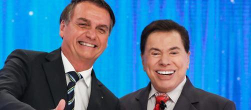 Sílvio Santos e Jair Bolsonaro se tornaram fortes aliados. (Arquivo Blasting News)