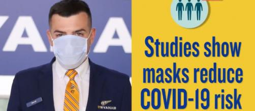 Voli Ryanair, la mascherina sarà obbligatoria.