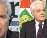 Maurizio Belpietro, direttore de La Verità, e Sergio Mattarella, presidente della Repubblica.