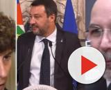Alessandra Riccardi, Matteo Salvini e Vito Crimi.