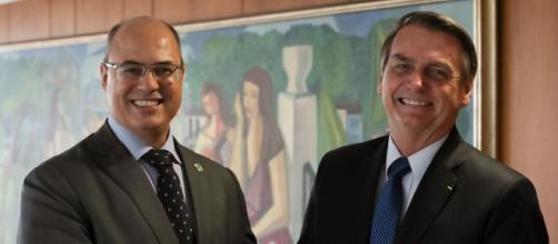 Jair Bolsonaro e Wilson Witzel em março de 2019. (Arquivo Blasting News)