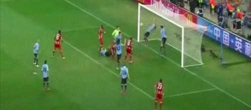 La main de Suarez contre le Ghana - Capture d'écran vidéo YouTube