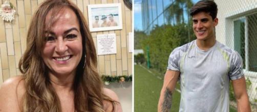 Relacionamento de Nadine e Tiago Ramos não teria a aprovação da família. (Reprodução/Instagram/@nadine.goncalves/@tiagoramoss)