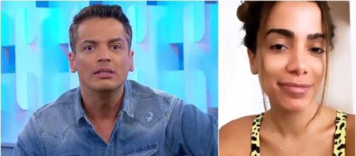 Triturando ignora barraco entre Leo Dias e Anitta e escolhe falar sobre dentadura. ( Arquivo Blasting News )