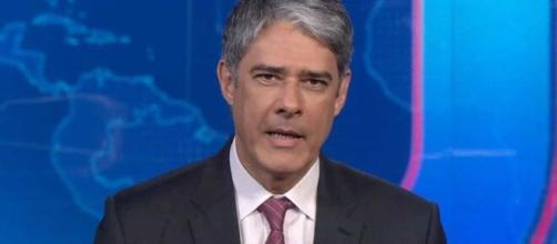 William Bonner recebe apoio da Globo contra campanha de intimidação. (Reprodução/TV Globo)