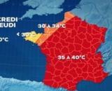 Météo : l'été devrait être trés chaud et France et en Europe - capture d'écran météo TF1