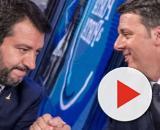 Matteo Salvini e Matteo Renzi nel loro confronto a Porta a Porta.