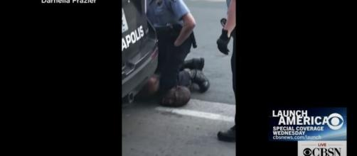 Four Minneapolis officers terminated after arrest of man who died after being arrested. [Image Source: CBS/YouTube]