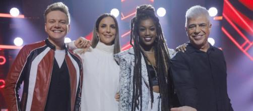 O programa 'The Voice' contou com Ivete Sangalo como uma das juradas. (Reprodução/TV Globo)